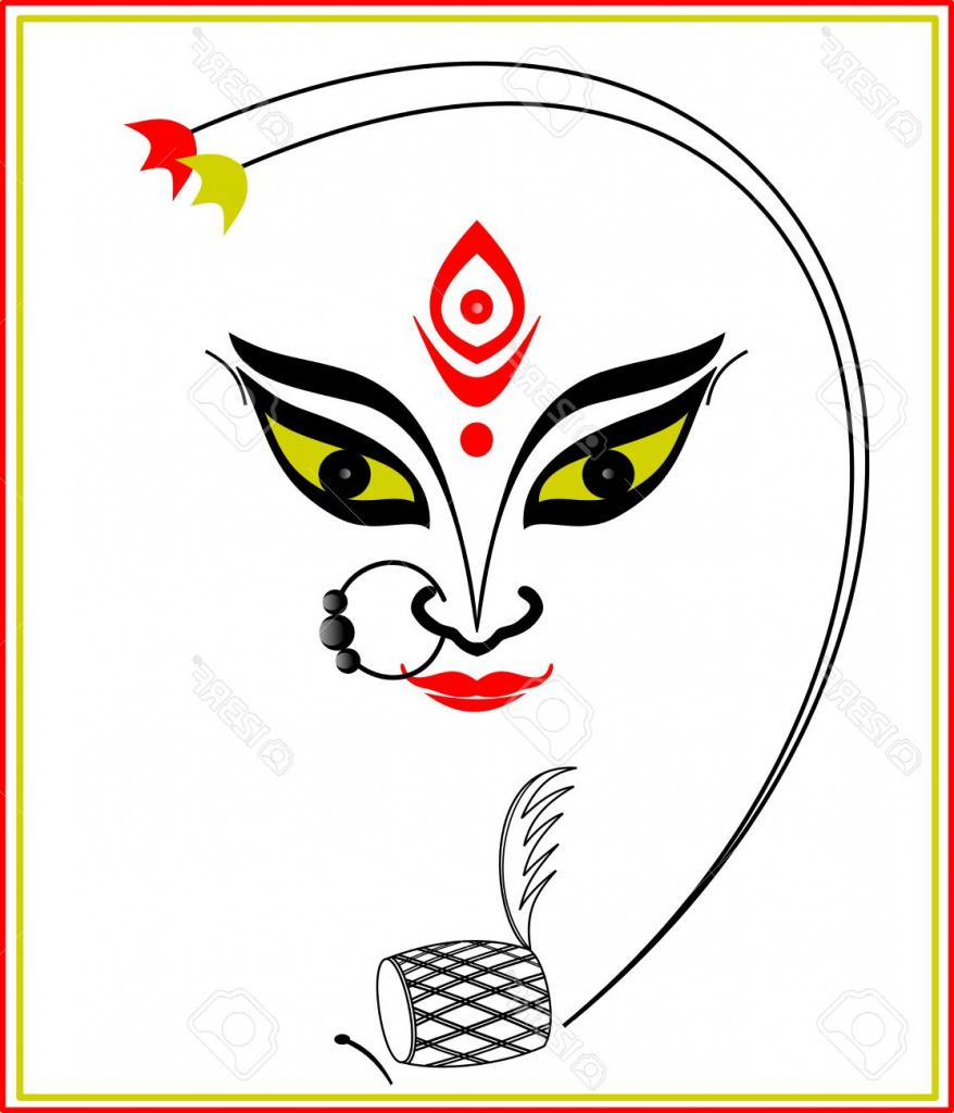 Durga Face Png images collection for free download.