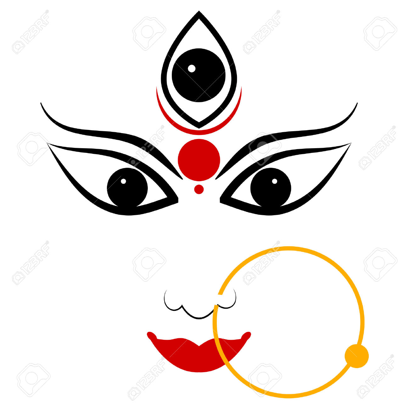 Durga face clipart 2 » Clipart Station.