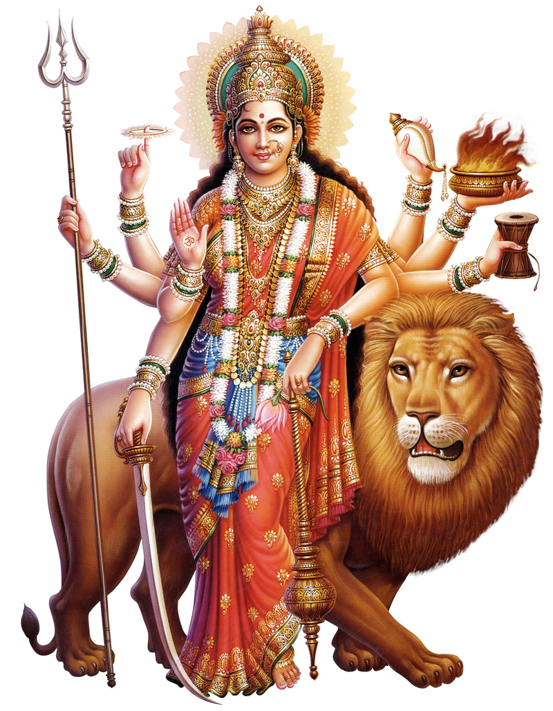 Download Free png Durgamata, the goddess of cre.