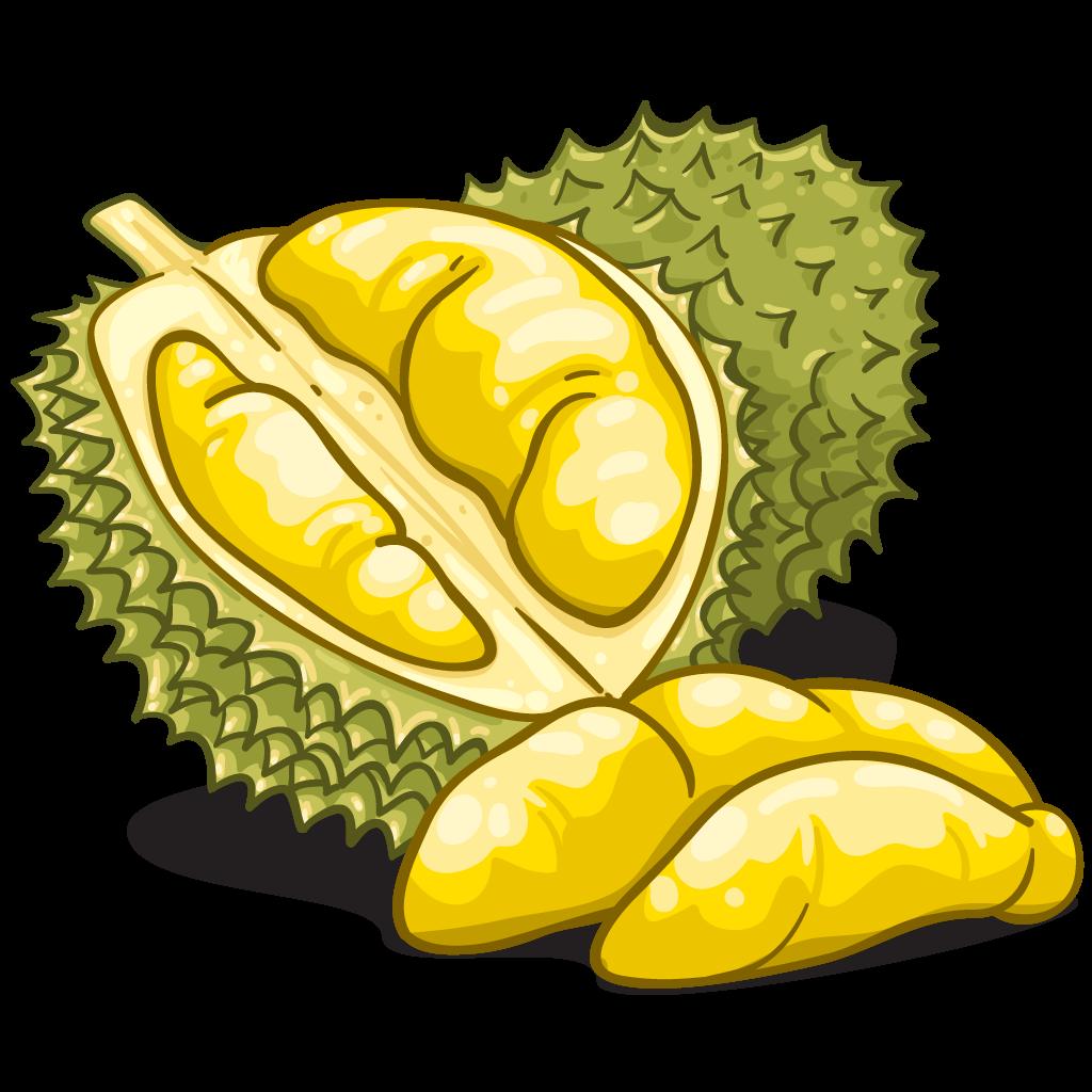 Durian Cartoon Clipart.