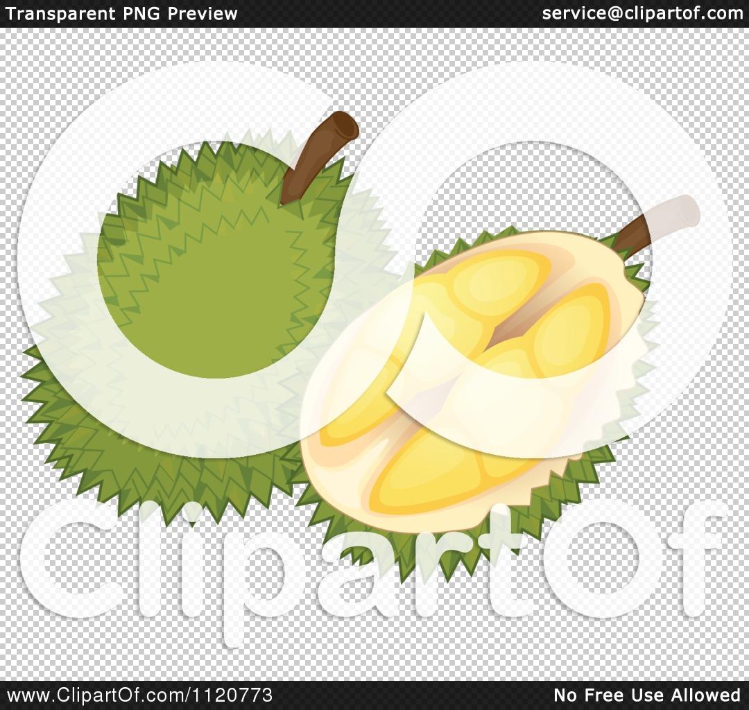 Cartoon Of A Durian Fruit.