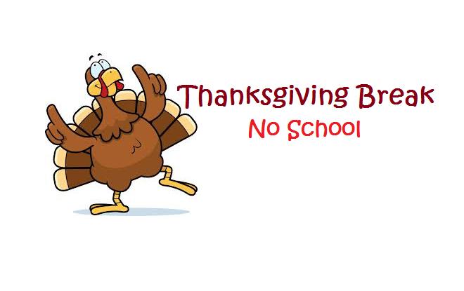 Thanksgiving school break clipart.
