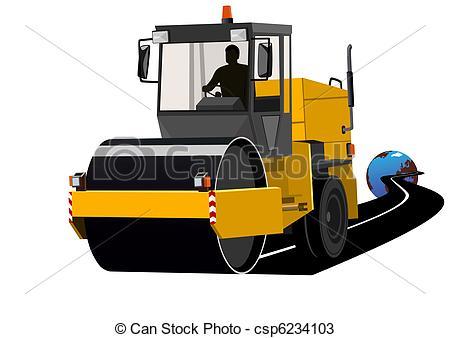 Vectors of Construction of roads.