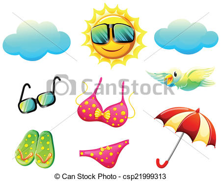 Vector Clip Art of Things found during summer.