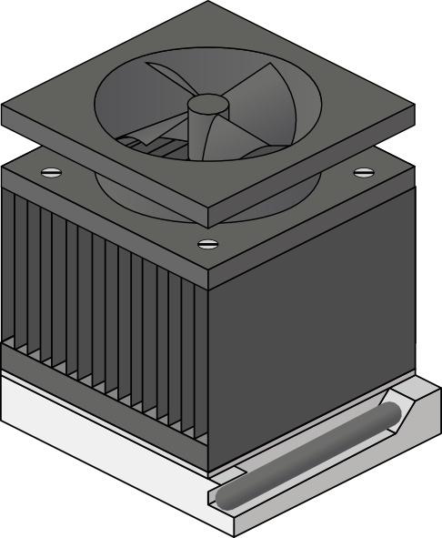 Cpu Heatsink Fan Socket Amd Duron clip art Free vector in Open.