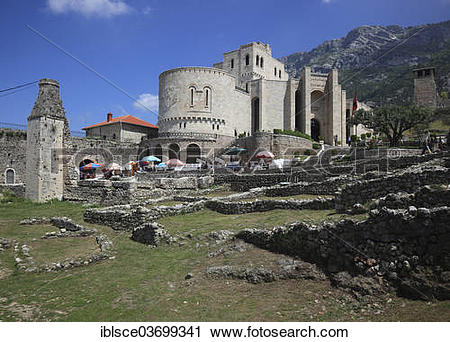 "Stock Photography of ""Skanderbeg Museum, castle, fortress, Kruja."