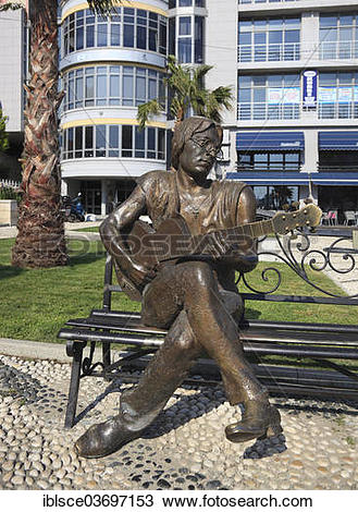 "Stock Photo of ""Statue of John Lennon, Durres, Durres County."