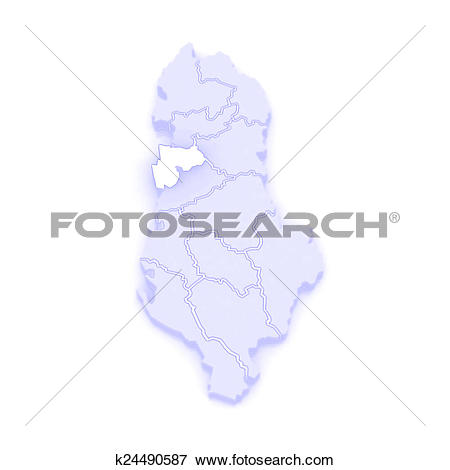 Stock Illustration of Map of Durres. Albania. k24490587.