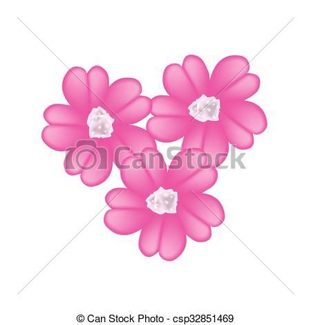 Clip Art Vector van roze, achillea, Duizendblad, millefolium.