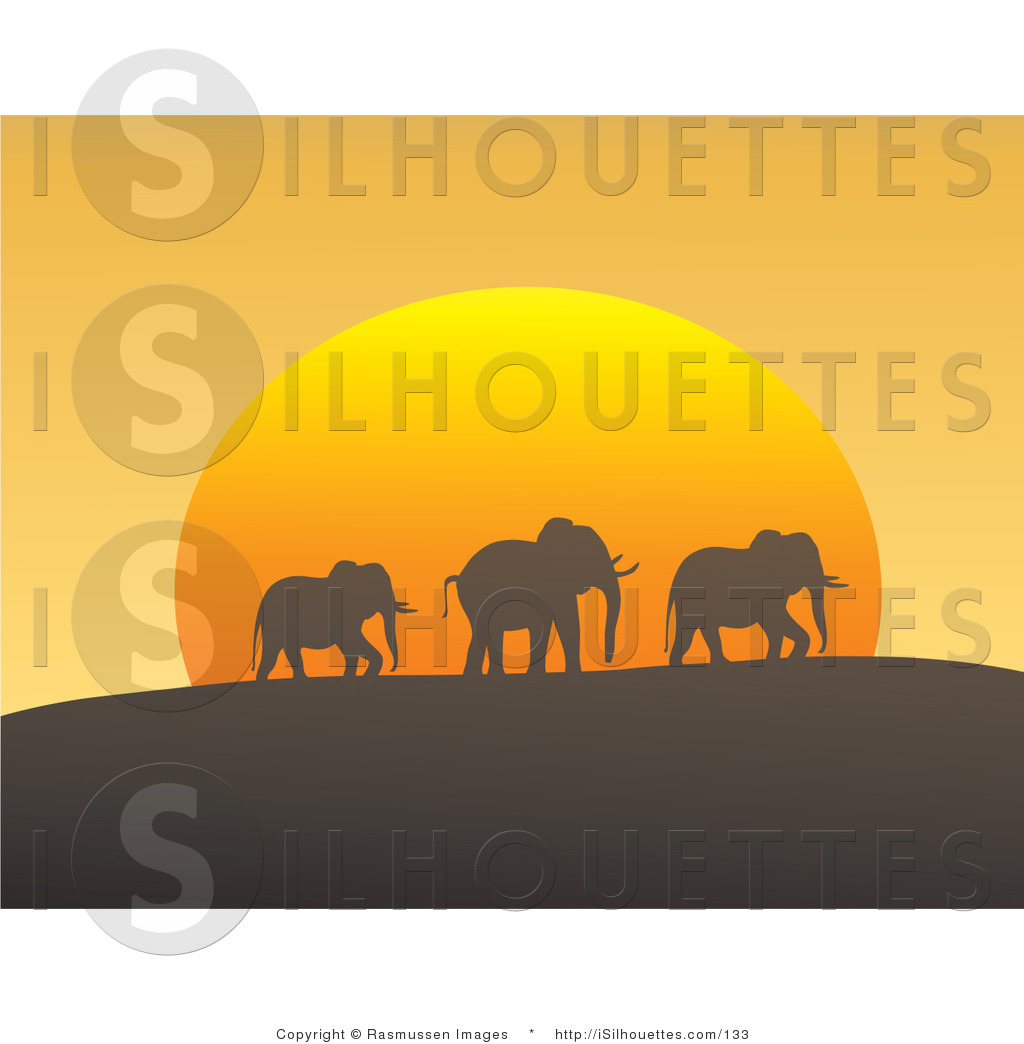 Royalty Free Dusk Stock Silhouette Designs.