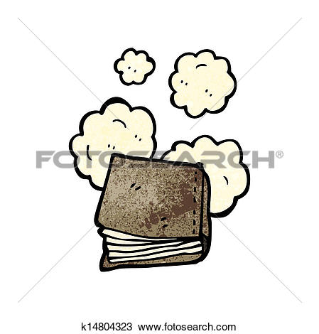 Clipart of dusty old book cartoon k14804323.
