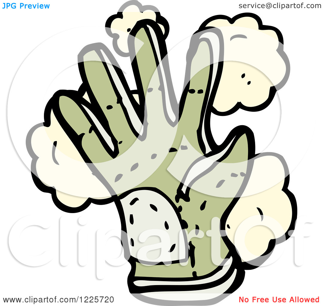 Clipart of a Dusty Gardening Glove.