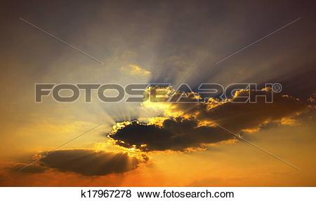 Pictures of golden color of beautiful dramatic dusky sky in.