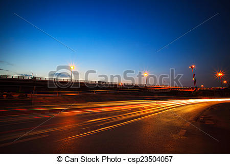 Stock Images of beautiful blue dusky sky peak of twilight time and.