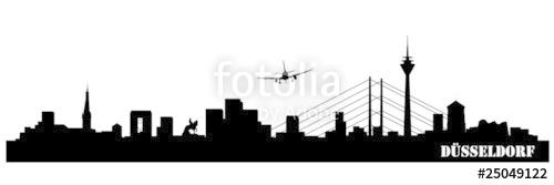 "Skyline Düsseldorf"" Stock image and royalty."