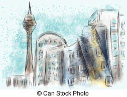 Dusseldorf Clipart Vector Graphics. 101 Dusseldorf EPS clip art.