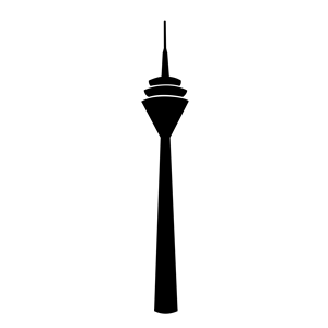 Rheinturm clipart, cliparts of Rheinturm free download (wmf, eps.