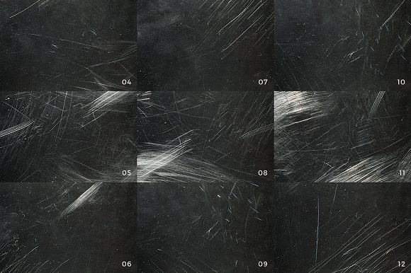 30 Dust and Scratch Overlay Textures.