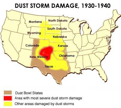 dust bowls of the 1930s.