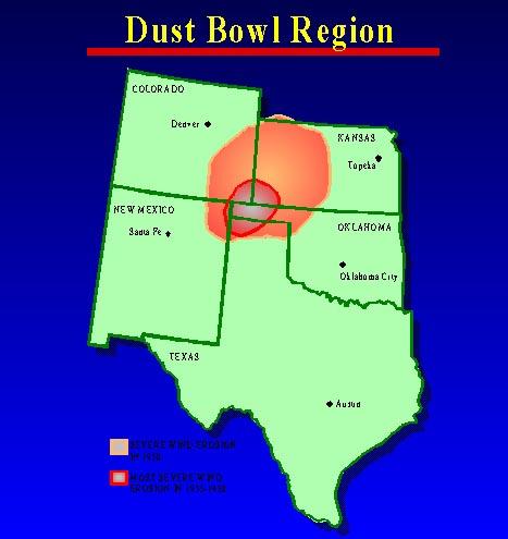 Oklahoma Dust Bowl Clip Art.