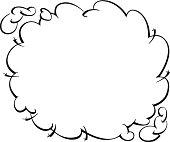Border Dust Cloud Vector Art.