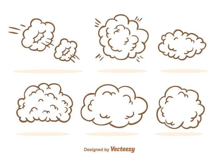 Dust Cloud Cartoon.