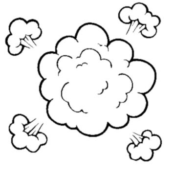Dust cloud clipart.