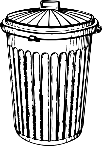 Trash Can Clip Art at Clker.com.
