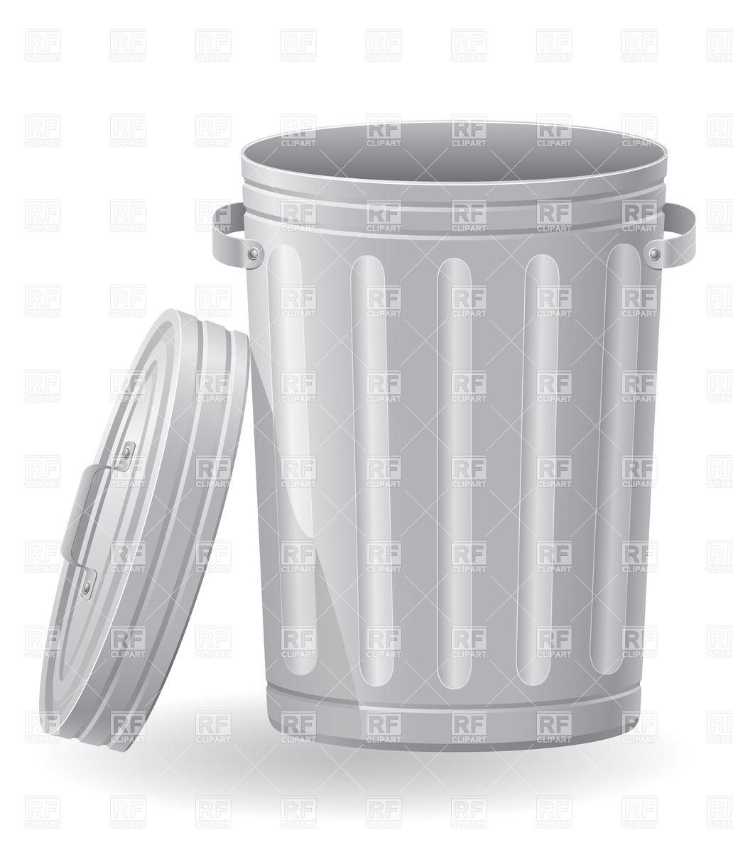 Metallic dustbin Vector Image #24963.
