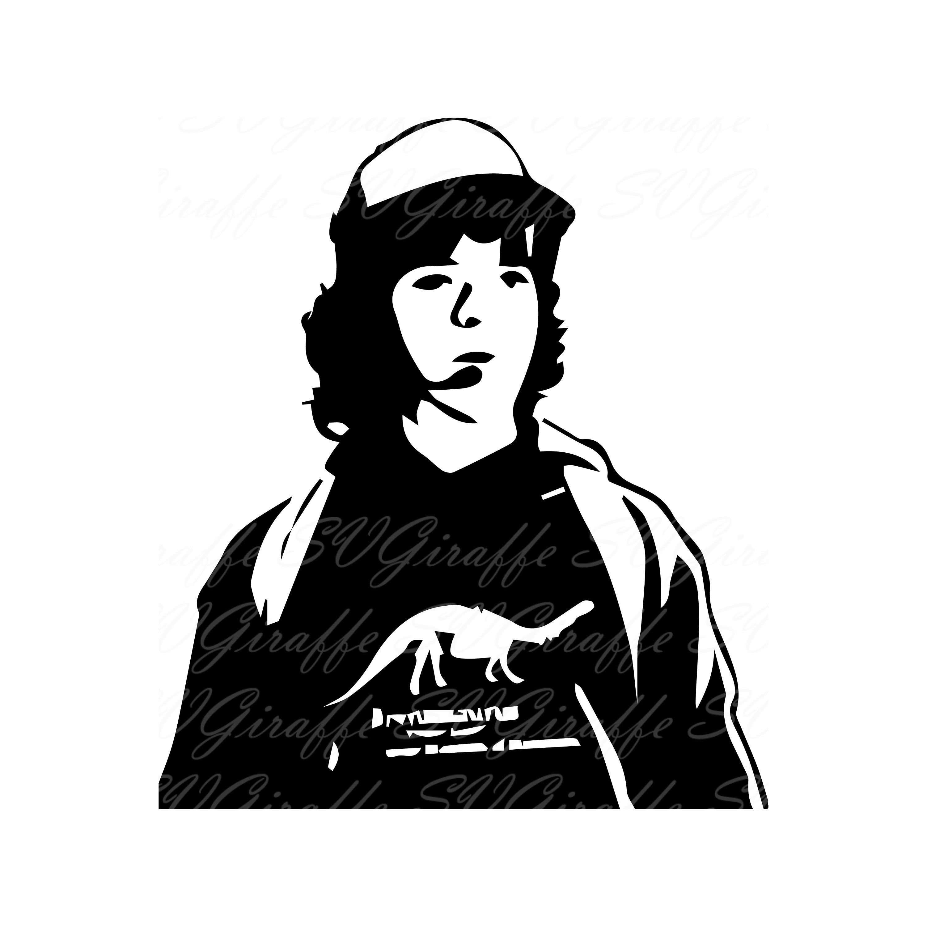 Dustin Stranger Things SVG DXF PNG pdf jpg files.