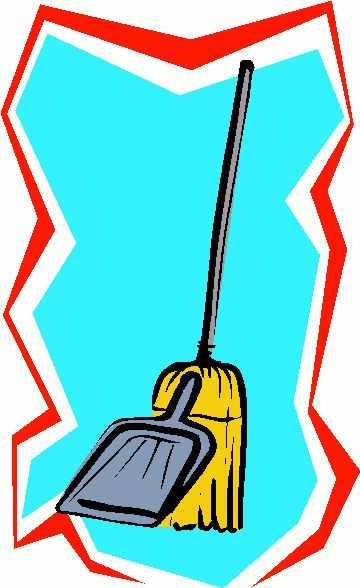 Clipart broom and dustpan.