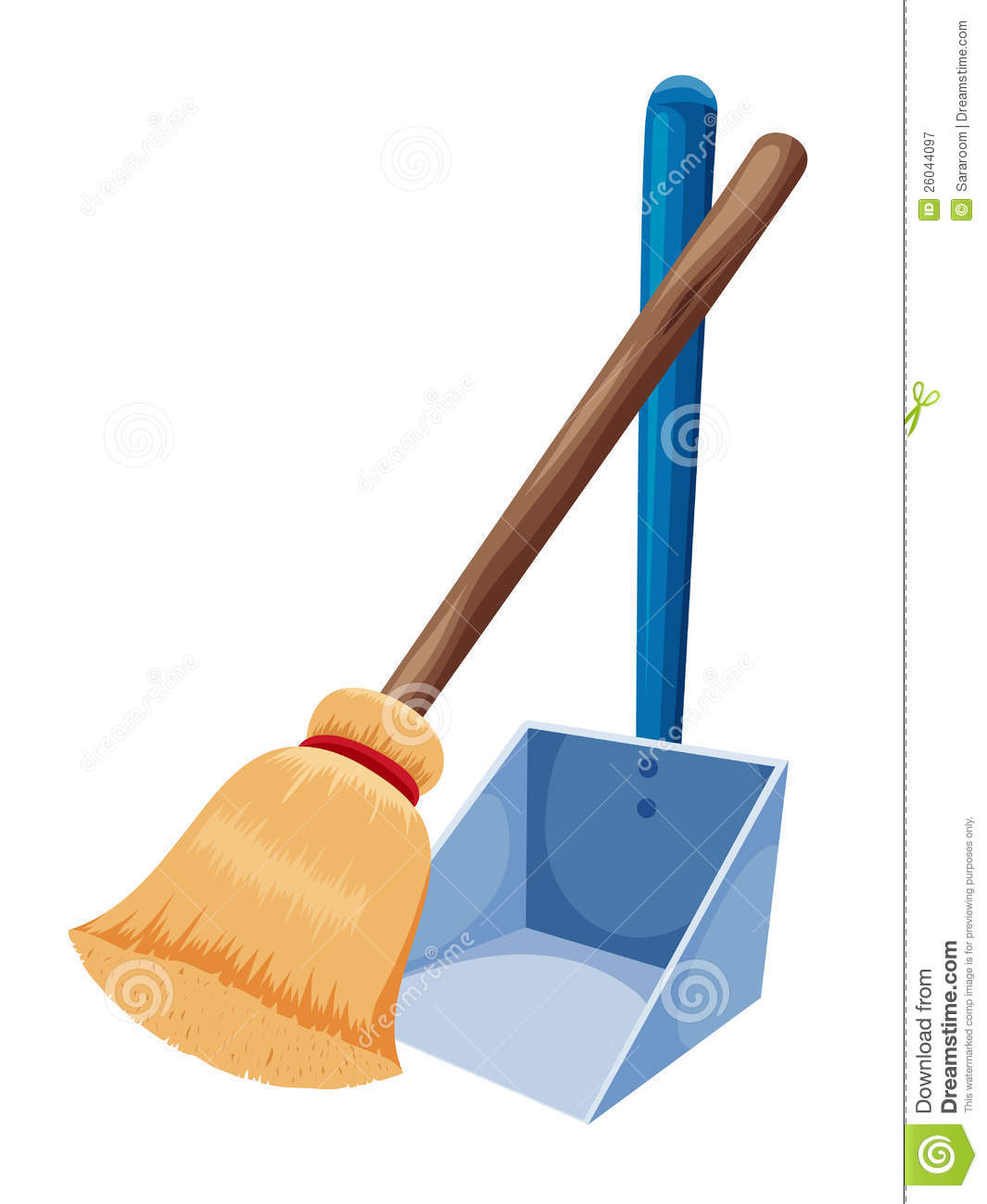 Broom And Dust Pan Clipart.