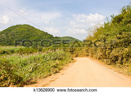 Stock Photography of Dusty road k13628900.