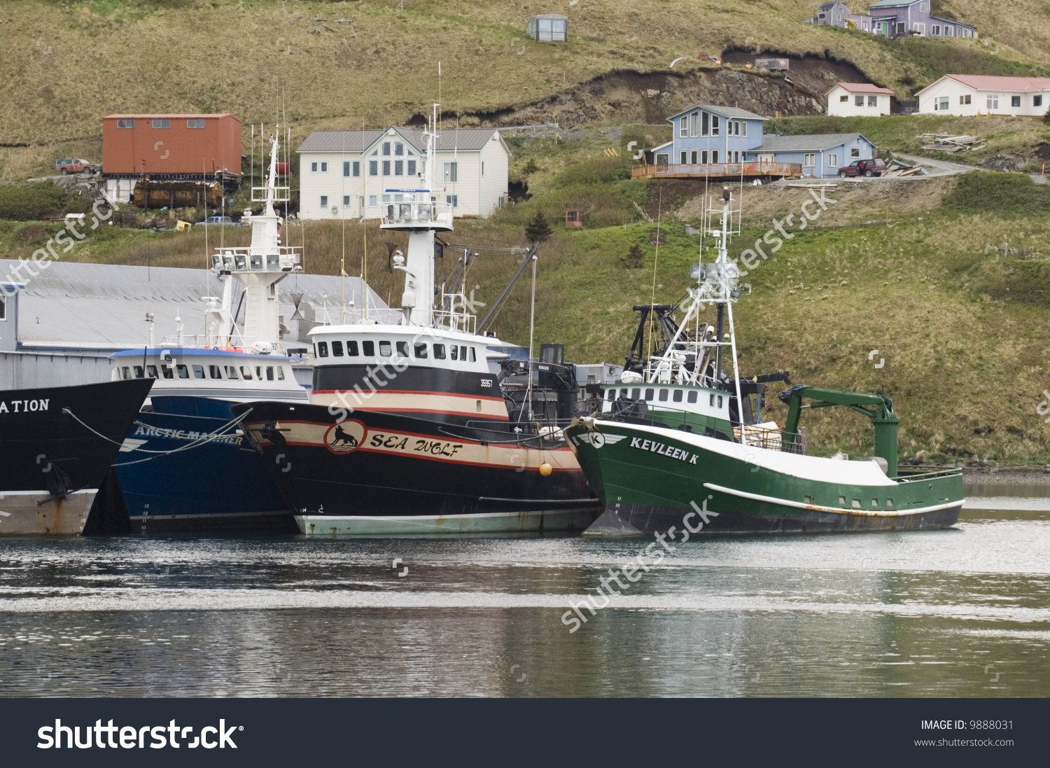 Fishing Boats Dutch Harbor Alaska Stock Photo 9888031.