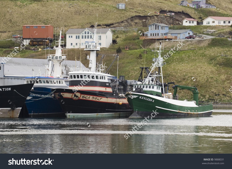 Fishing Boats Dutch Harbor Alaska Stock Photo 9888031.