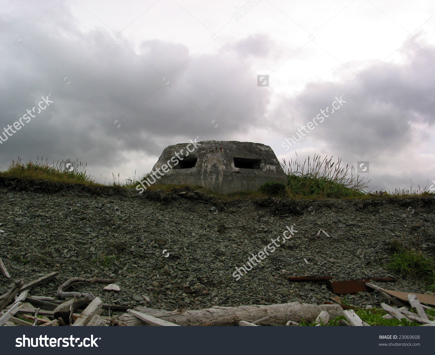 Ww2 Relics Dutch Harbor Alaska Pill Stock Photo 23069608.