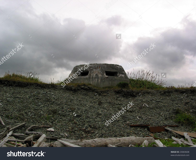 Ww2 Relics Dutch Harbor Alaska Pill Stock Photo 23069608.