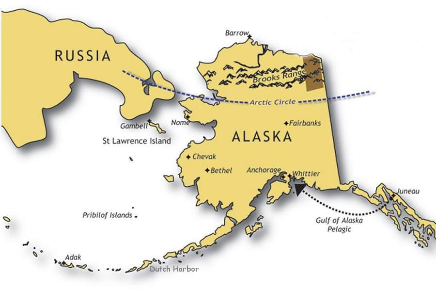Adak to Dutch (via research vessell) + Barrow, Alaska.