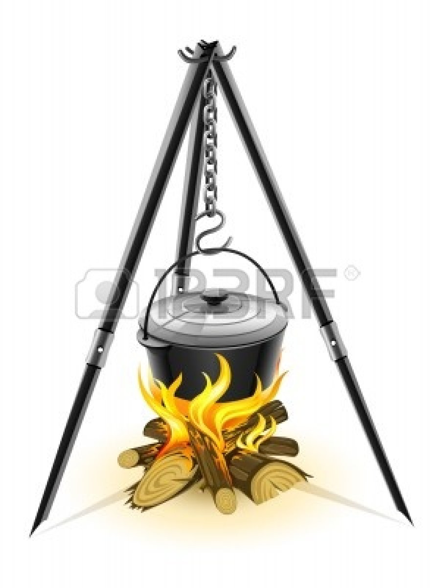 Dutch Oven Cooking Clipart.