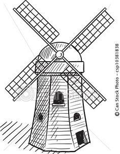 Windmill clipart dutch.