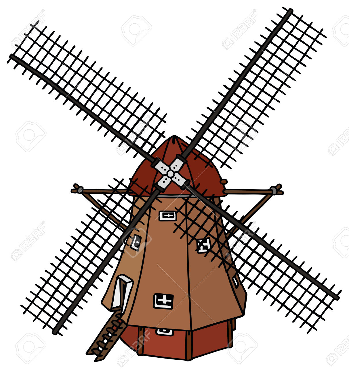 Traditional Dutch Windmill Royalty Free Cliparts, Vectors, And.