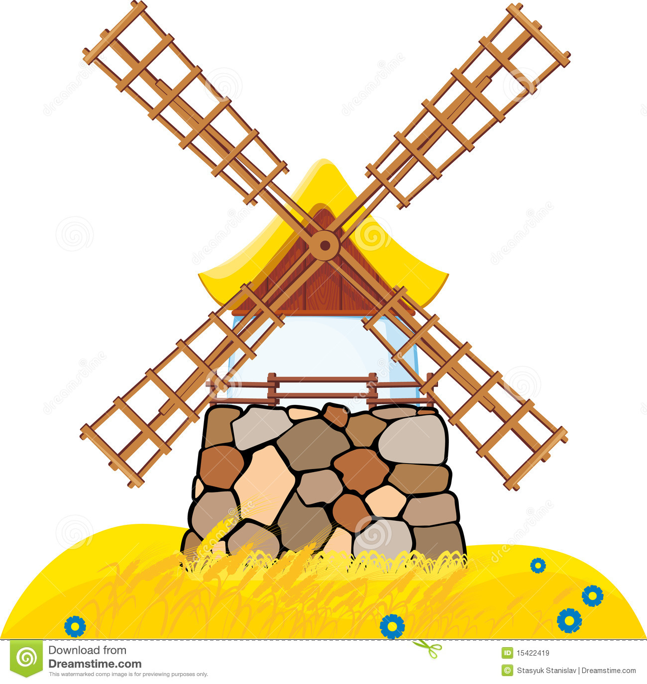 Windmill Royalty Free Stock Images.