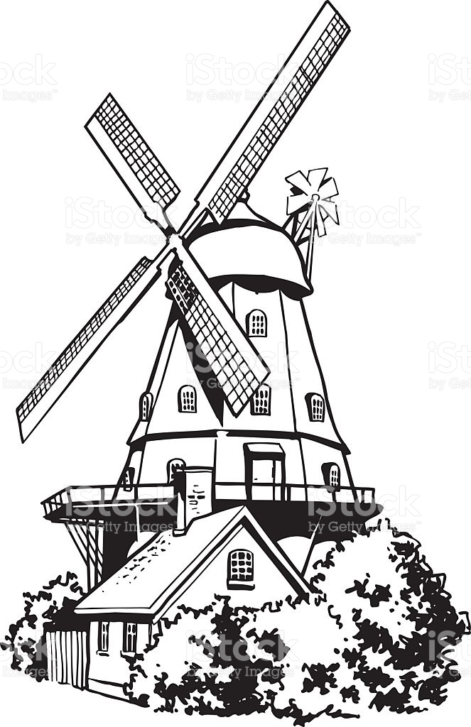 Dutch Wind Mill Clipart Clipground