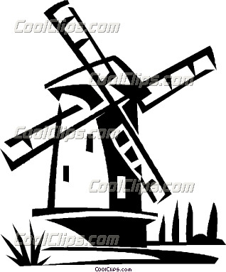 Dutch windmill clipart free.