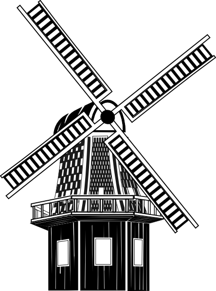 Dutch Wind Mill Clipart Clipground