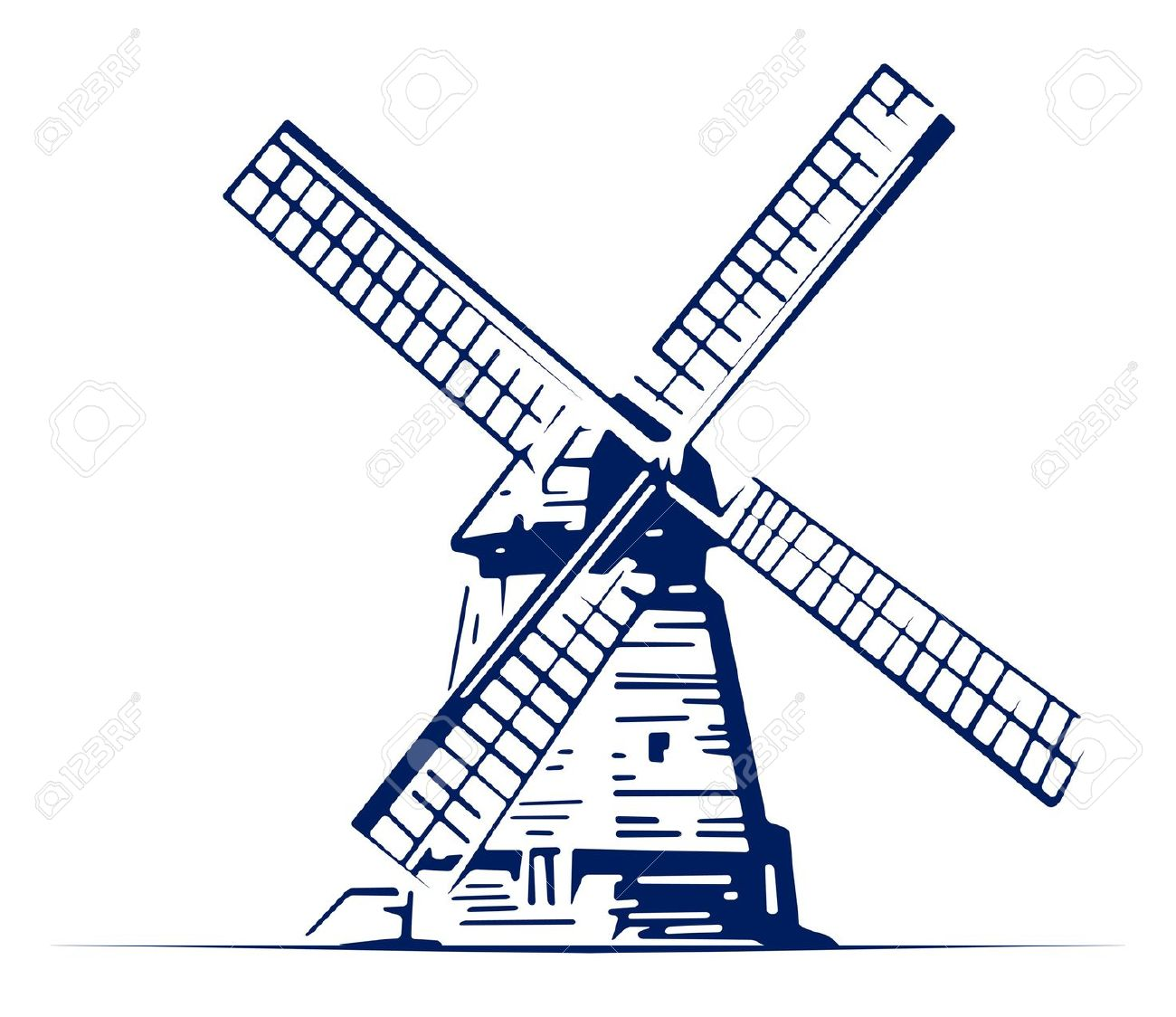 Line Drawing Windmill : Dutch wind mill clipart clipground