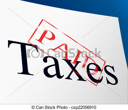 Clipart of Tax Paid Stamp Showing Excise Or Duty Paid.