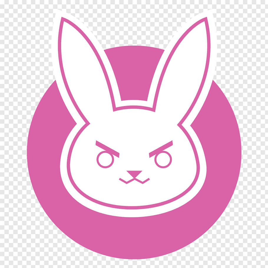 White rabbit head, Overwatch D.Va Logo, d free png.