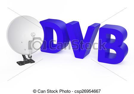 Stock Illustration of Digital Video Broadcasting (DVB) service.