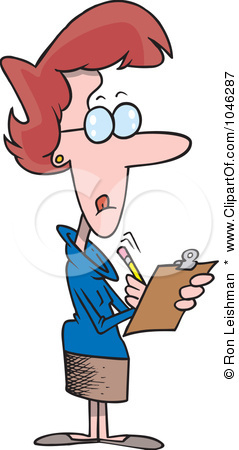 Female Manager Clipart.